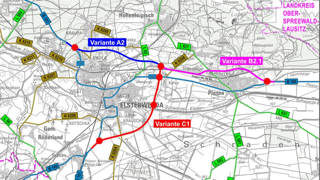 B101-Ortsumgehung-Elsterwerda-B169-Plessa-uebersichtskarte